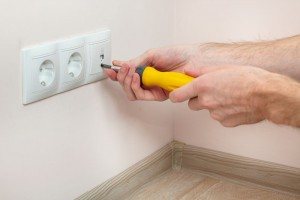 Install electrical outlets
